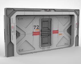 3D sci fi door 21