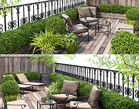 3D model Terrace balcony penthouse