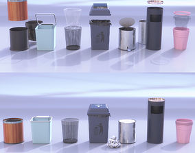 Daily trash cans 3D model