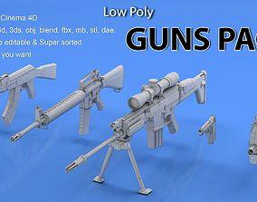 3D model Guns Mesh Pack