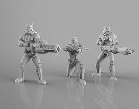 Old Dark Troopers Heavy Weapons Team 3D printable model