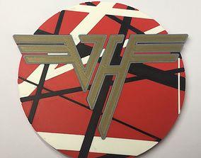 3D printable model Van Halen Logo Coaster