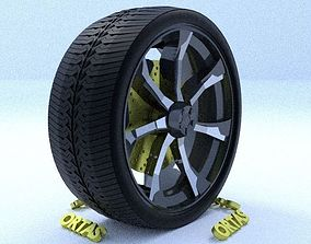 3D ORTAS CAR RIM 21 GAME READY RIM TIRE AND DISC