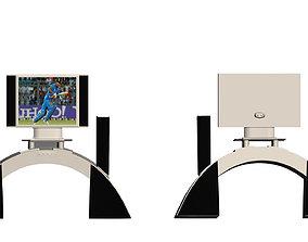 tv with speaker 3D asset