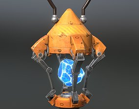3D model Sci-fi lamp crystal