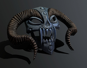 3D asset mask horned