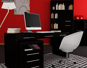 Home Workplace Furniture 08 3D asset
