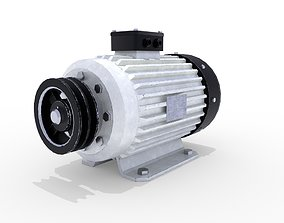 3D asset Electric Motor 4