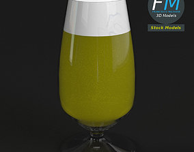 Glass with beer 4 3D model