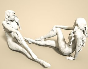 3D printable model Girl Low poly Sculpture