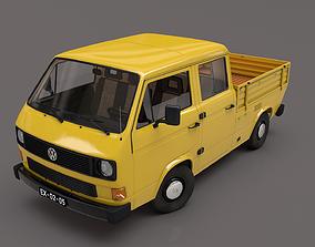VOLKSWAGEN TRANSPORTER T3 PICKUP DOBLE CAB 1980 3D