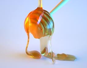 3D Honey Splash