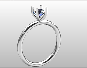 Soliteire 5 mm diamond Ring Size 52 3D print model