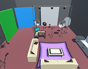 3D model Low Poly Photography Studio Pack
