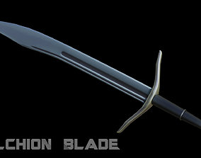 3D model game-ready Falchion Blade