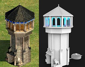 Tower lamp - age of empires 2 - western 3D print model