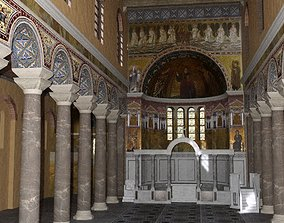 3D model chancel Basilica with Apse