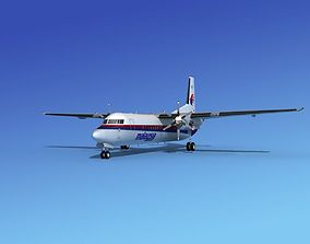 3D model Fokker 50 Malaysia