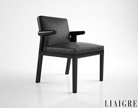 3D model Christian Liaigre Hector armchair
