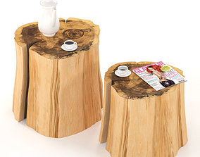 3D model Two tables of stumps