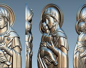 The Virgin of Vladimir Icon 3D print model