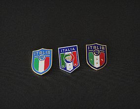 Italian Football Federation FIGC enamel 3D printable model