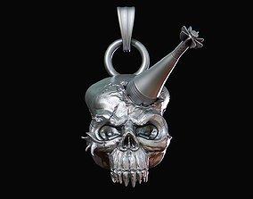 3D printable model Skull with mortar shell mercenary