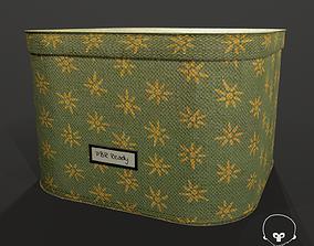 3D model game-ready Designer Storage Box - used item