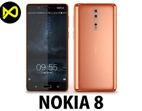 Nokia 8 Polished Copper 3D model