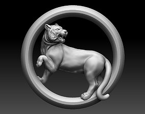 jewerly 3D printable model lioness pendant
