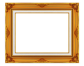 3D model Frame picture gold v2