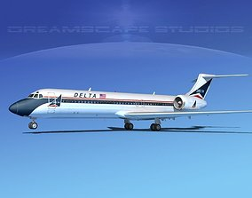Boeing 717-200 Jetliners Collection 3D