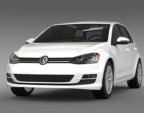 Volkswagen Golf TSI 5d 2015 3D