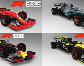 F1 2019 Pack 4 Teams 3D asset