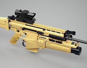 3D SCAR-H assault rifle