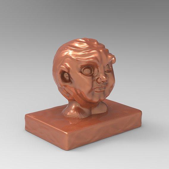 Old Man Creature Face Model