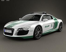 3D model Audi R8 Police Dubai 2013