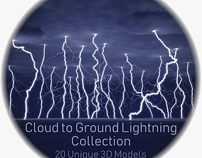 Realistic 3D Lightning Collection CG-01 - 20 discharge