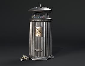 Vintage London Street Trash Can 3D