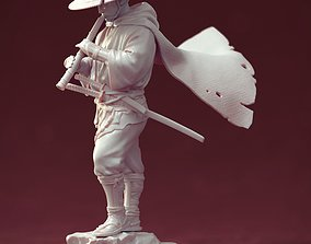 3D print model Samurai with bambooflute