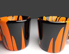 3D Ceramic cup pair