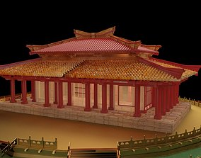 Chinese ancient house 3D model siheyuan