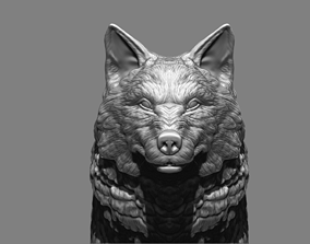 low-poly Wolf highpoly 3D model