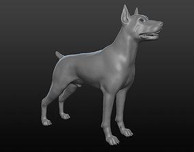 Doberman base mesh 3D model