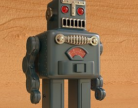 Vintage Style Collectible Robot Smoking 3D model