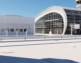 Airport Buildings Layout 3D model