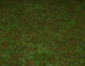 3D ground grass tile 21