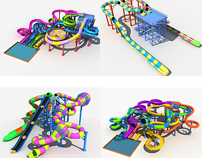3D Collection of Water Slide