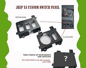 Jeep Wrangler YJ Custom Made Switch 3D printable model