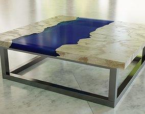 Epoxy Cube Table 3D